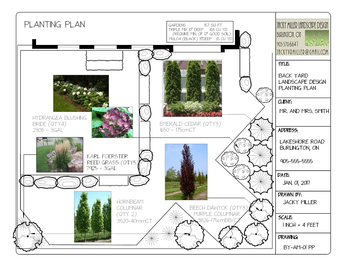 Residential Landscape Design in Burlington, Planting